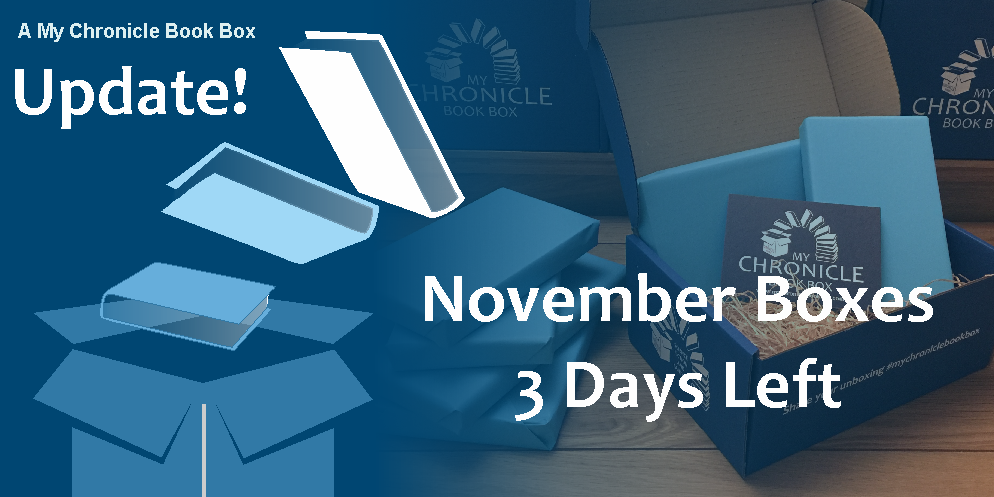 My Chronicle Book Box 3 days left of November 2017 box banner