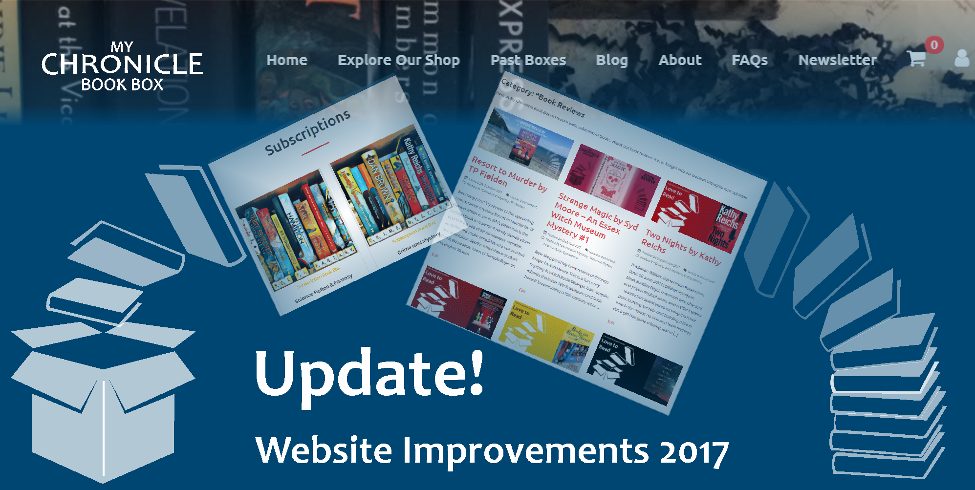 My Chronicle Book Box Website Improvements 2017 Banner