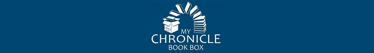 My Chronicle Book Box Logo - White on blue