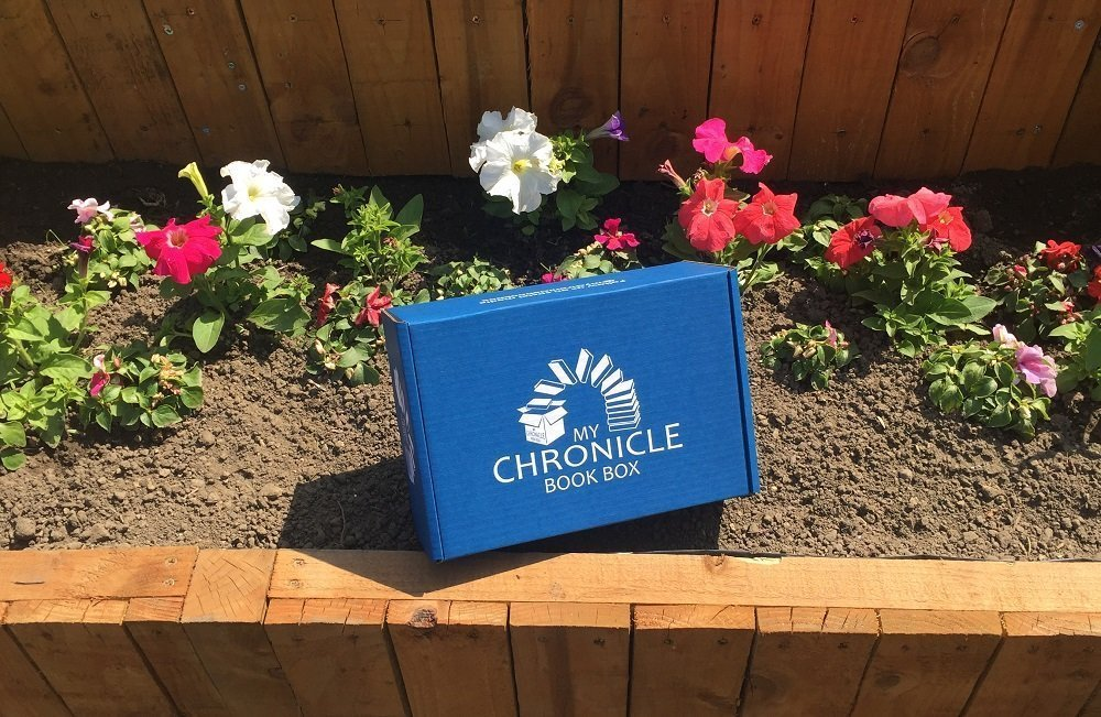 Book box in flower bed