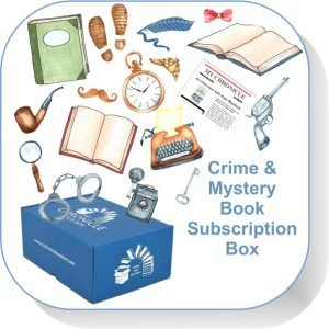 Book Subscription Box Crime and Mystery Button
