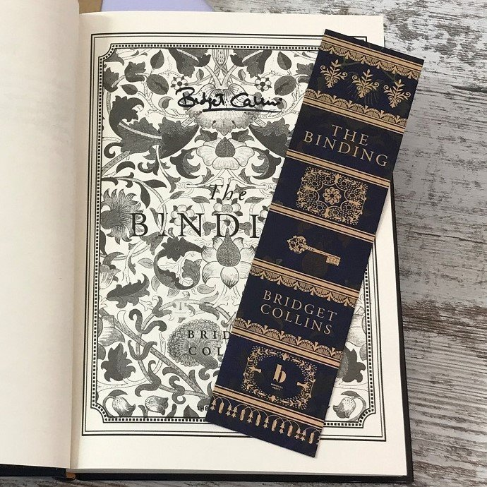 Book Subscription Box - SFF - February 2019 - The Binding - Bridget Collins - foil bookmark