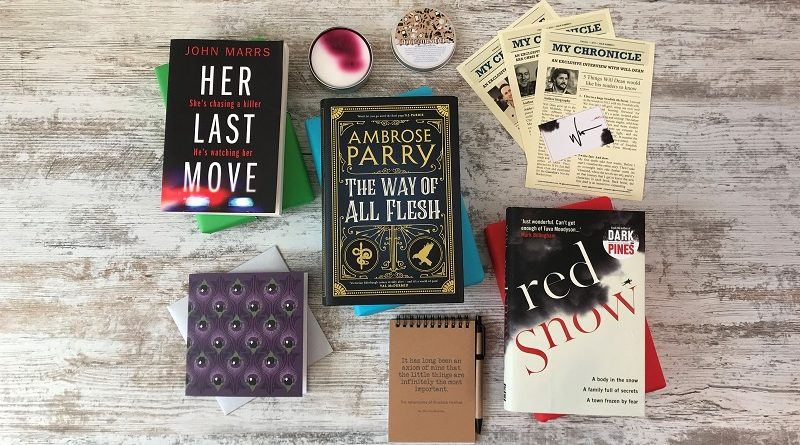 Book Subscription Box - crime mystery- February 2019 - book box full