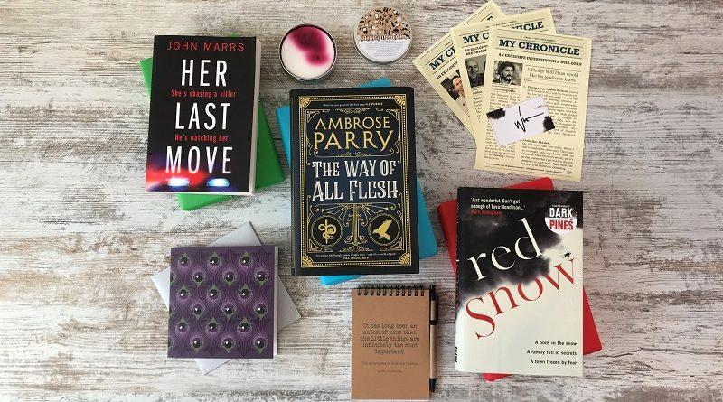 Book Subscription Box - crime mystery- February 2019 - book box full