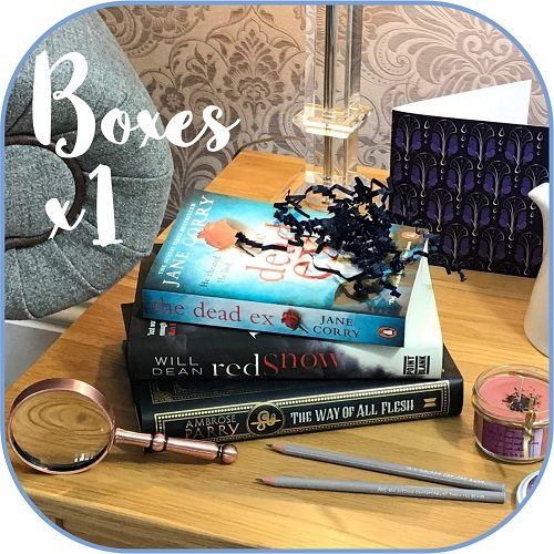 Crime mystery - subscription book box Product - 1 box sq