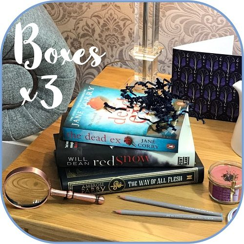 Crime mystery - subscription book box Product - 3 boxes sq