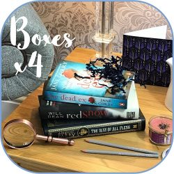Crime mystery - subscription book box Product - 4 boxes sq