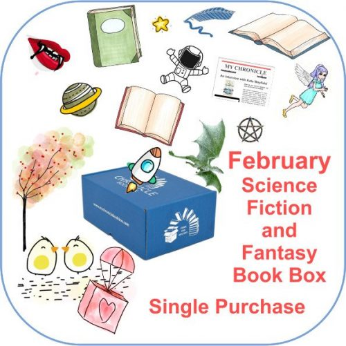 February Single purchase Book Box Science Fiction and Fantasy button