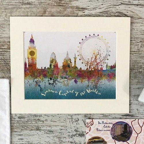Rivers of London - London capital of the world watercolour print with mount