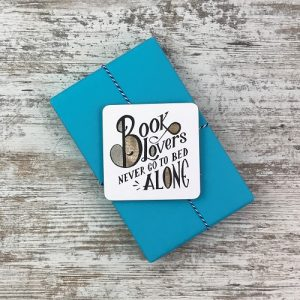 My Chronicle Book Box May 2019 Crime and Mystery Box - book lover's coaster