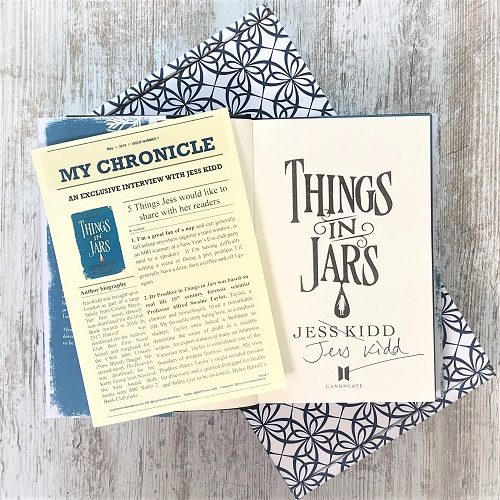 Things in Jars - Jess Kidd inside signed interview
