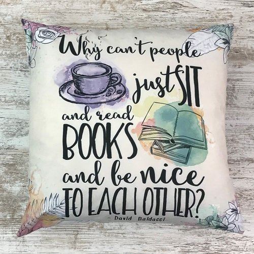 Crime & mystery book subscription box - November 2019 - cushion cover