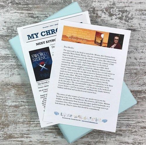 Science Fiction & Fantasy book subscription box - November 2019 - Author interviews