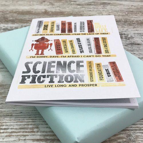 Science Fiction & Fantasy book subscription box - November 2019 - Scifi novels notebook by HappyIfItRains 3