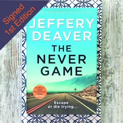 The Never Game - Jeffery Deaver - signed first edition