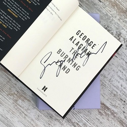 Crime & mystery book subscription box - November 2019 - The Burning Land - George Alagiah - signed