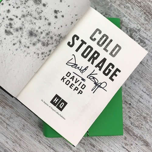 Science Fiction & Fantasy book subscription box - November 2019 - Cold Storage - David Koepp signed