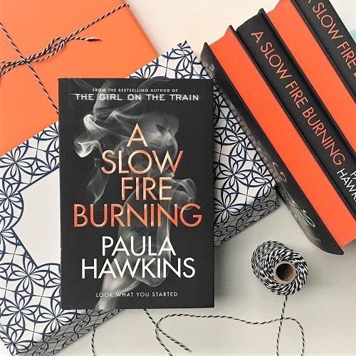 A Slow Fire Burning Paula Hawkins signed sprayed