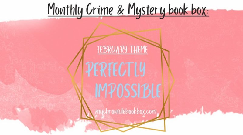 Monthly crime subscription box theme reveal banner