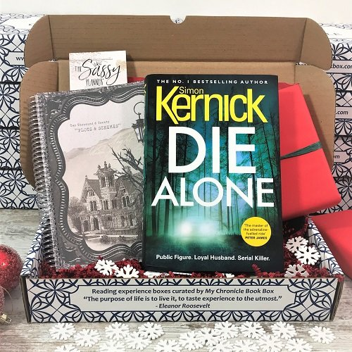 December crime book box - Die Alone - Simon Kernick - Sassy Planner