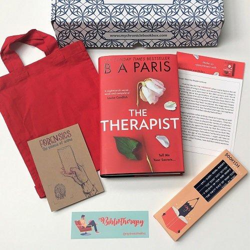 The Therapist by BA Paris April book box