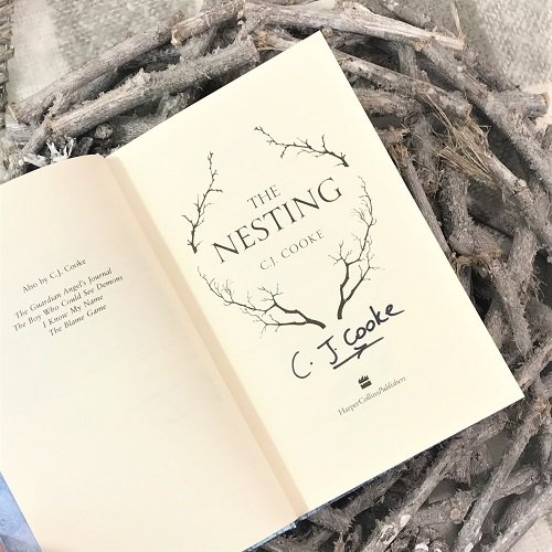 The Nesting CJ Cooke signed first edition