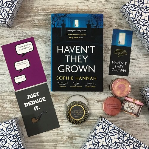 Feb 2020 Monthly crime book box - Haven't They Grown - Sophie Hannah 500x500