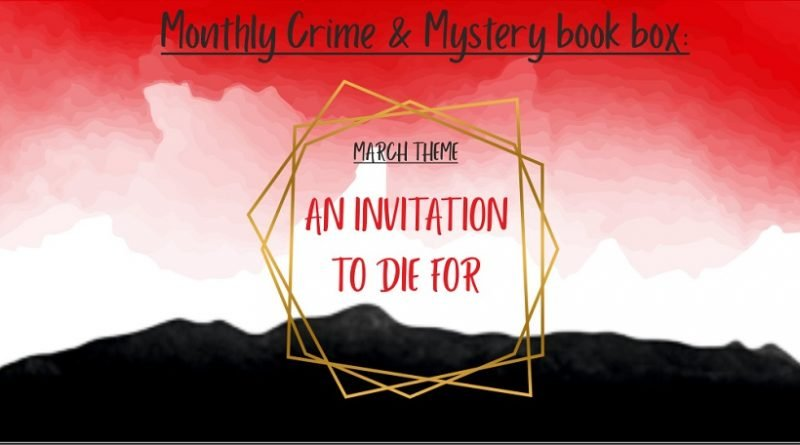 March 2020 monthly crime book box theme 1000x457