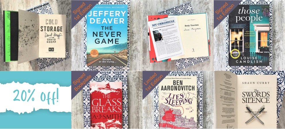 20% off signed first editions