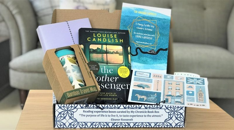 July 2020 - crime book box - The Other Passenger - Louise Candlish - at home