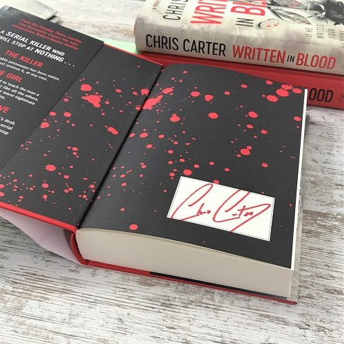 Written in Blood - Chris Carter - signed