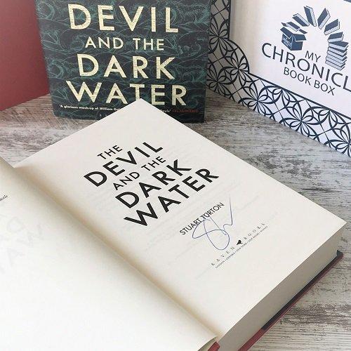 The Devil and the Dark Water - Stuart Turton - signed - Oct book box