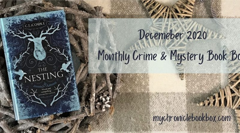 December Monthly Crime Mystery book box