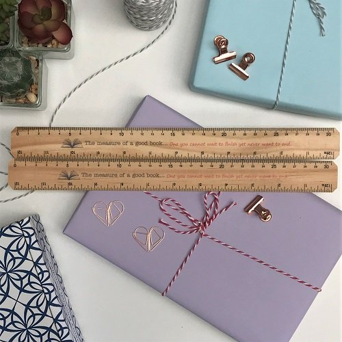 30cm ruler 'the measure of a good book'