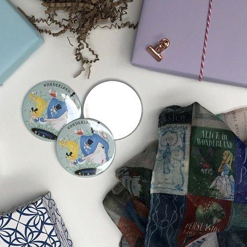 Alice in Wonderland pocket mirror