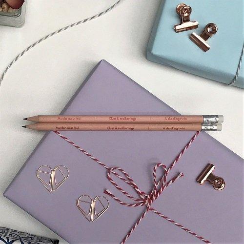 Book plot crime pencils