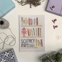 Classic Scifi Bookshelf A5 Notebook 2