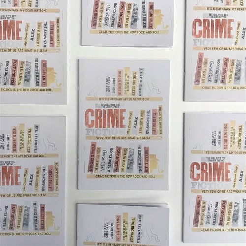Crime Bookshelf A5 Notebook 4