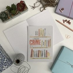 Crime Bookshelf A5 Notebook 5