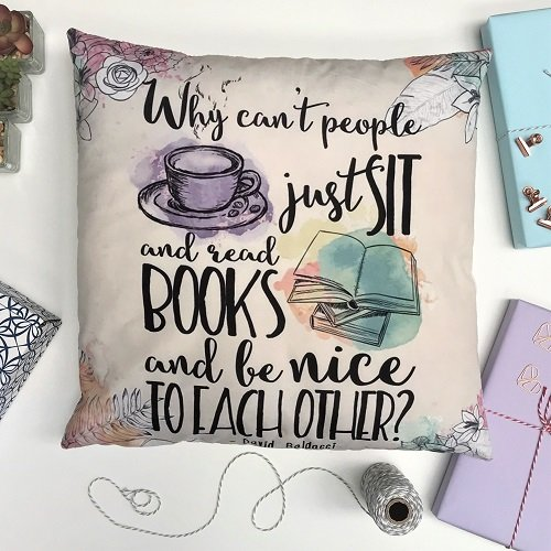 Cushion Cover 'Sit and Read books' 2