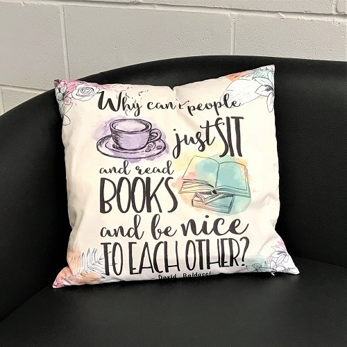 Cushion Cover 'Sit and Read books'