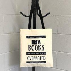 Tote bag - cotton shopper - mystery books