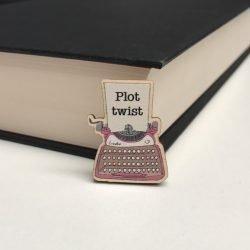 Typewriter wooden pin