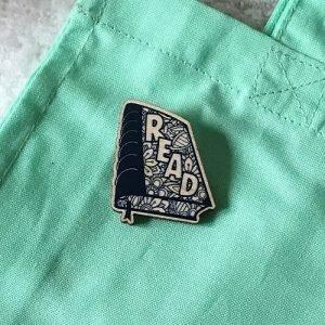 Read bookish pin