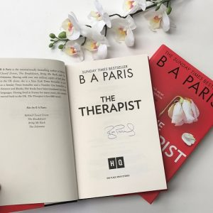 The Therapist by BA Paris signed first edition