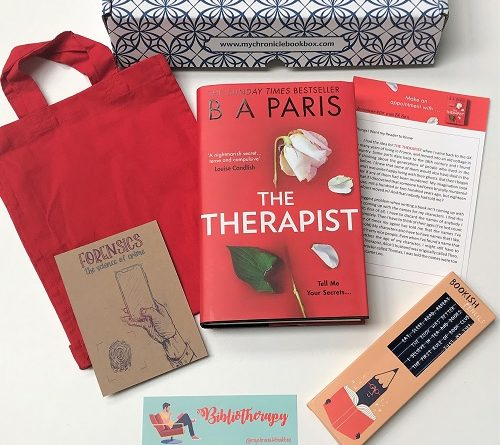 The Therapist by BA Paris May monthly book box